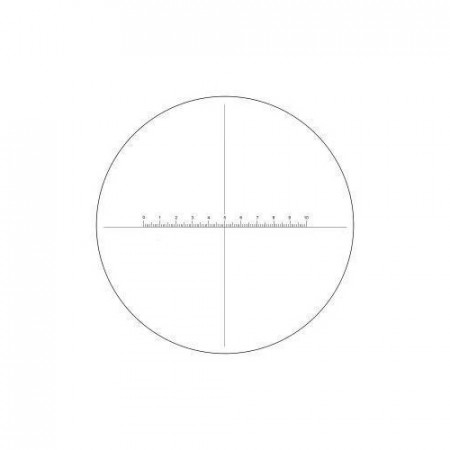 26mm eyepiece reticle, 10mm/100 division with crossline