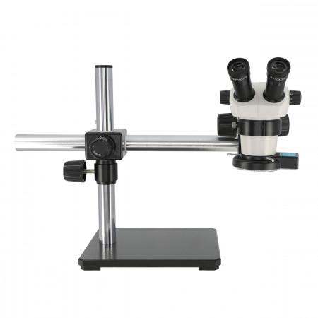 3075 Binocular Zoom Stereo Microscope, Boom Stand, LED Quad Ring Light