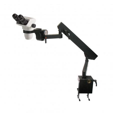3075 binocular stereo microscope on flex arm stand