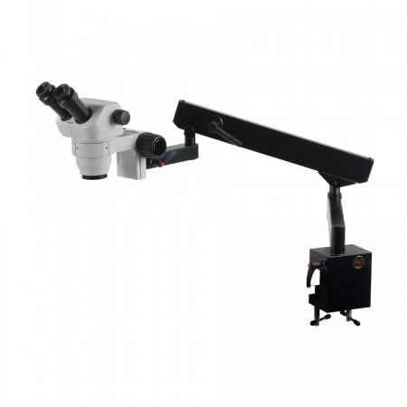 3078 Binocular Zoom Stereo Microscope on Flex Arm Stand