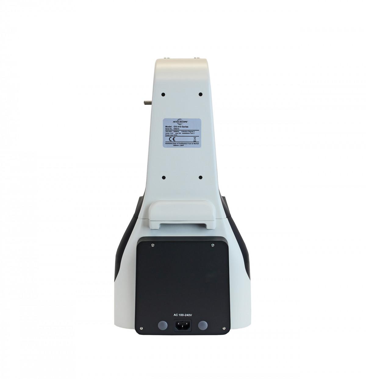 EXI-410-FL, rear view showing fluorescence LED module housing