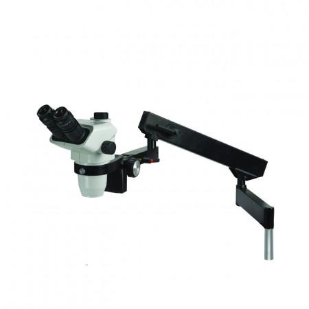 3076 trinocular stereo microscope on flex arm stand