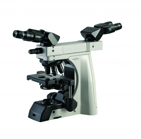500-2FTB Dual Observation Accessory shown on EXC-500 with optional Ergo Binocular Heads and Eyepieces.