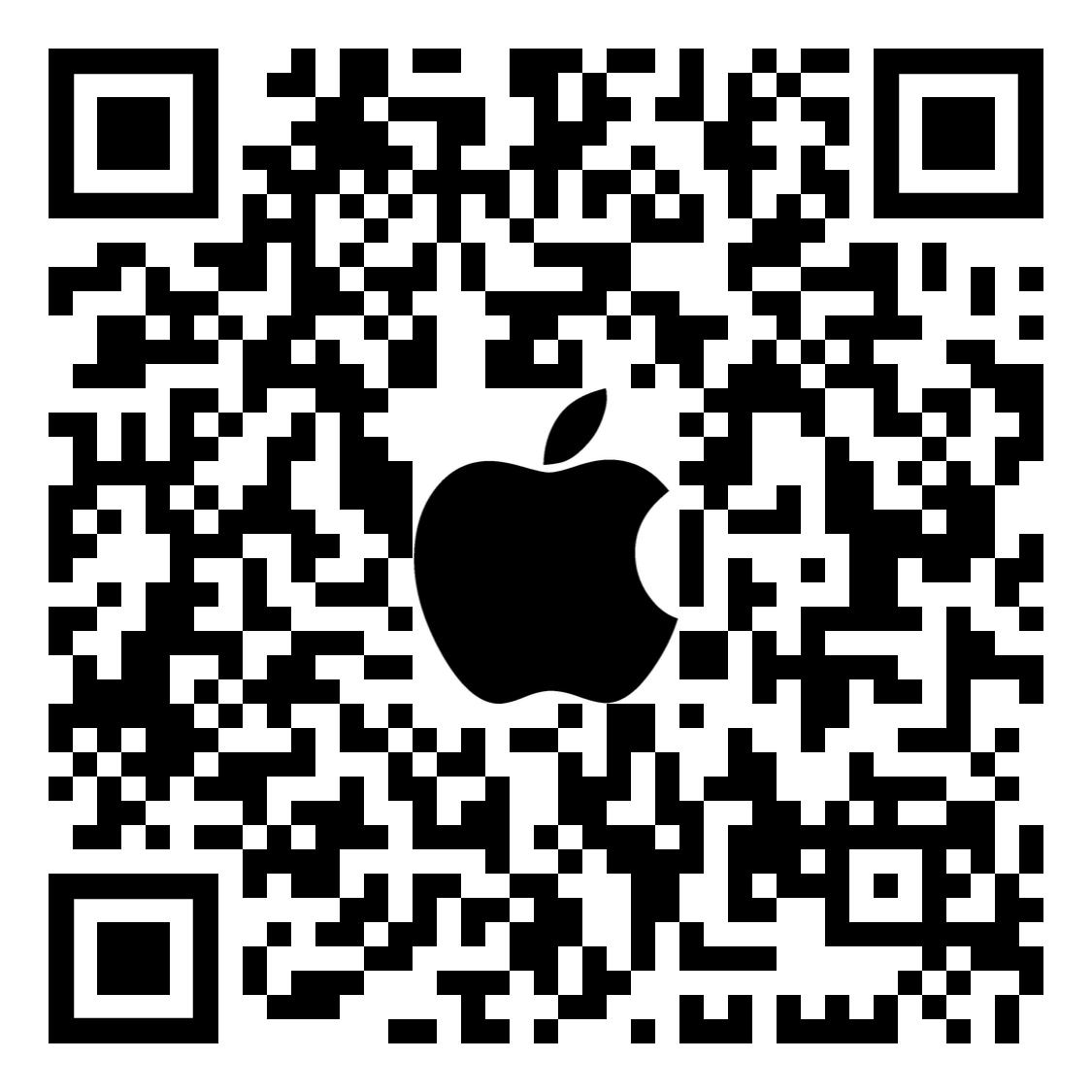 QR code for SKYE View 2 app on Apple App Store